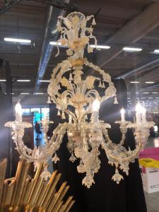Candelabro de hélice em vidro Murano 10 chamas
