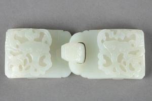 China hebilla de jade blanco