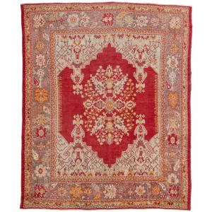 Antique Large Turkish Oushak Rug from Private Collection