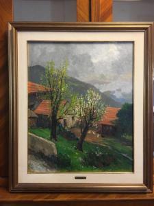 Pintura a óleo Amedeo Merello (1890-1979)