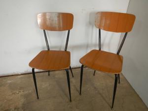 coppia sedie anni 70