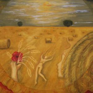1980年签名并注明日期的现代绘画