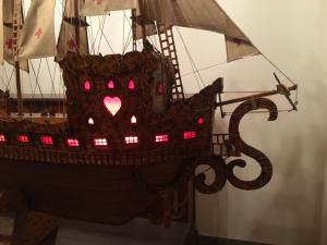 Beautiful sailing ship made with matches