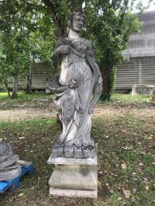 Ststua stone 50x60x50h base, 70x40x170h statue