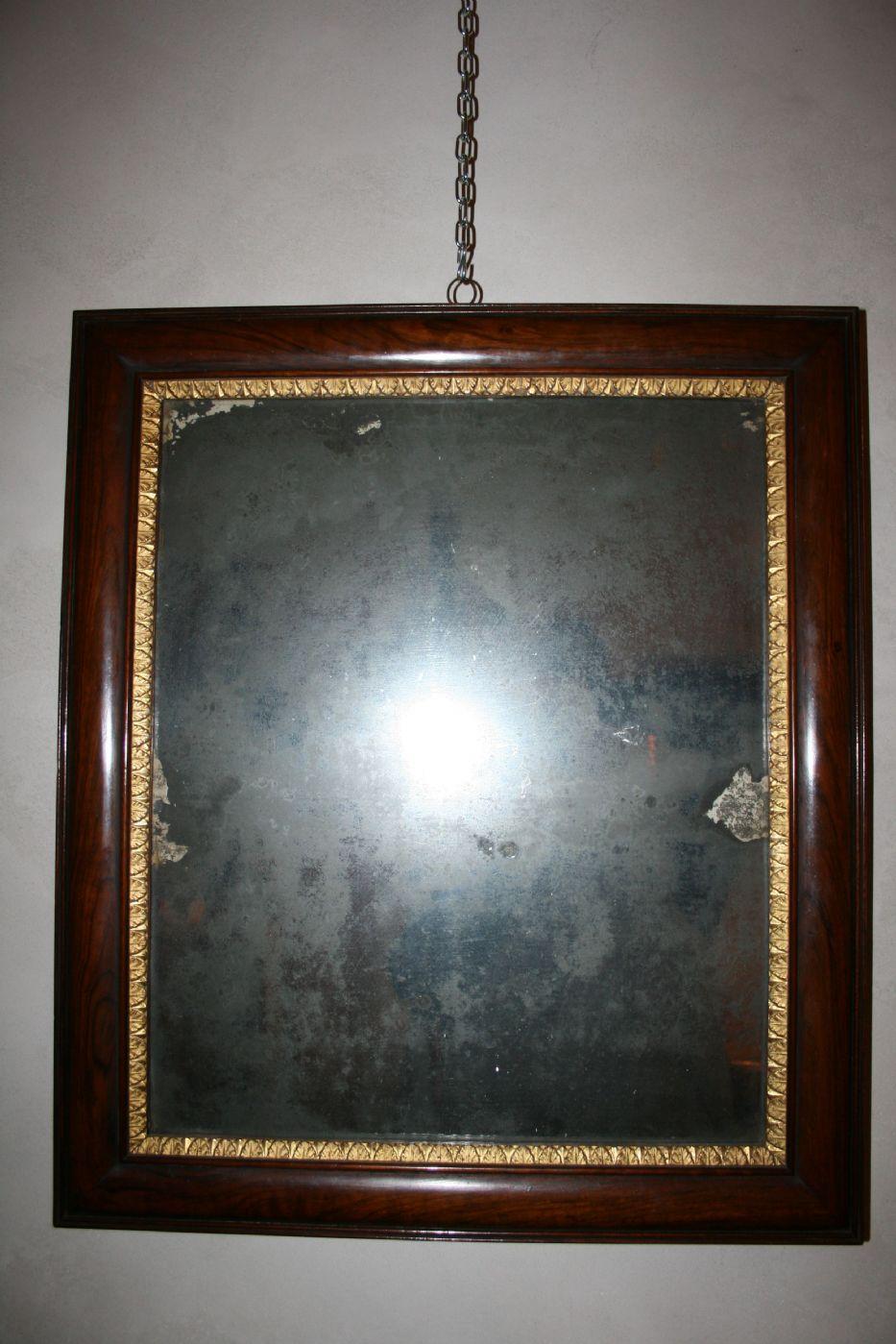 Specchiera in noce e oro con specchio al mercurio italia epoca impero - Specchio al mercurio ...