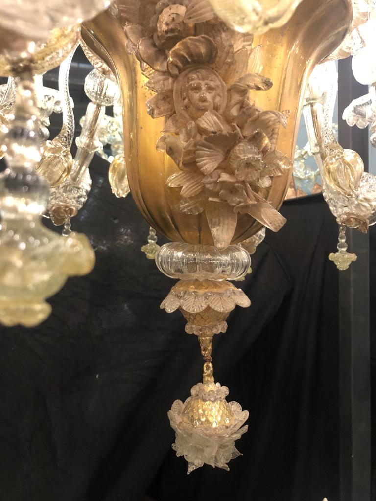 thumb4|Lampadario vetro di Murano 10 fiamme