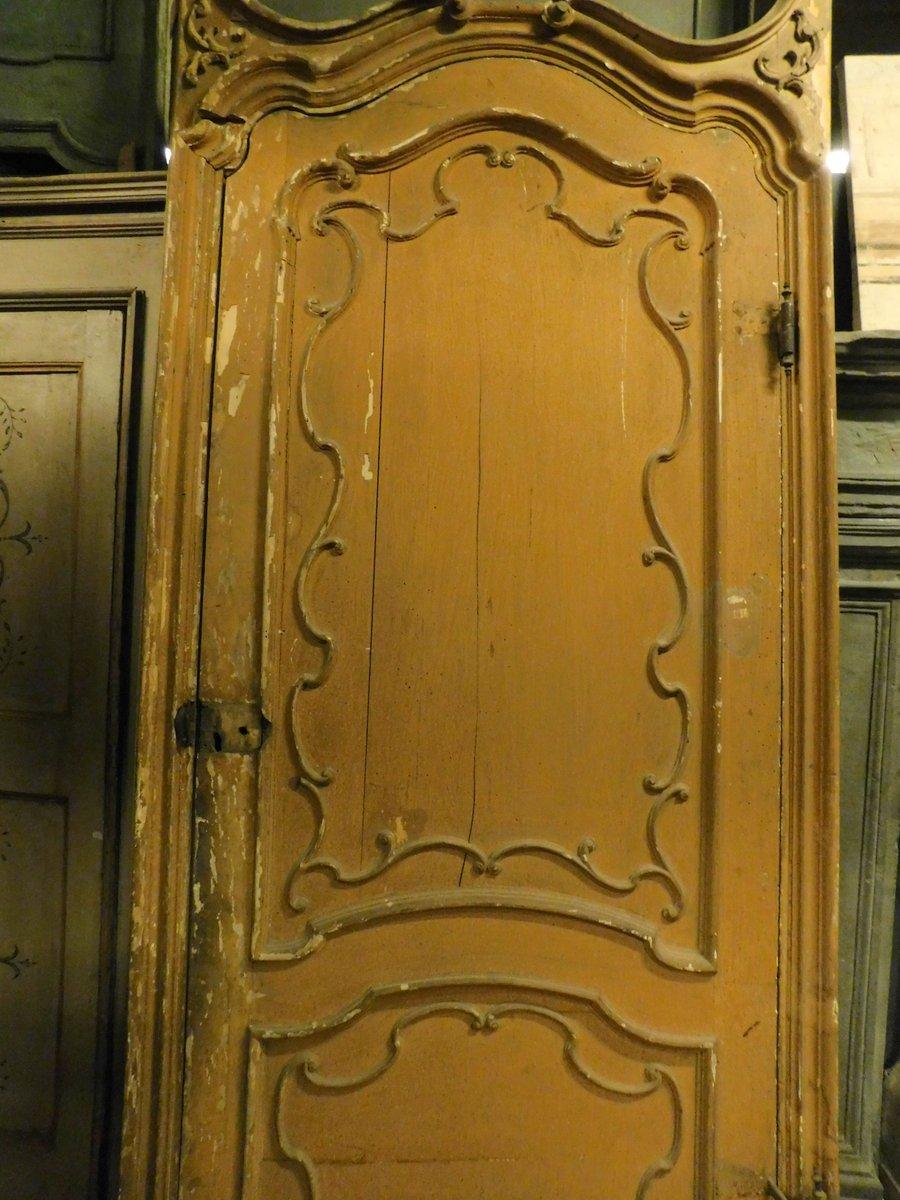 thumb2|ptl519 - porta grande laccata con telaio, XVIII secolo, mis. cm l 130 x h 360