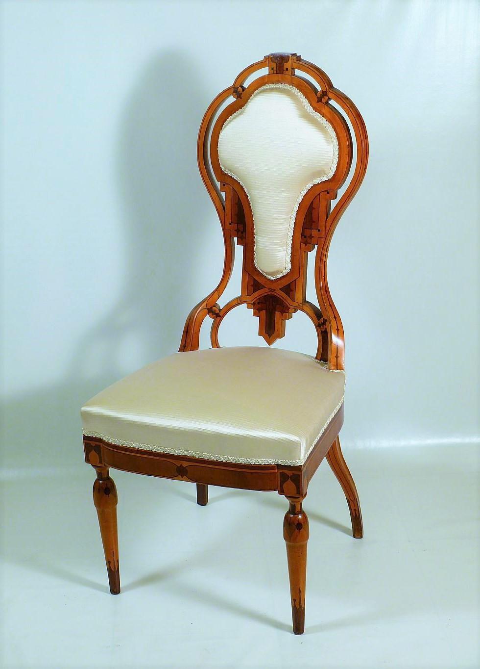 Artigiano Della Sedia Bologna insieme da boudoir - sedia con seduta imbottita