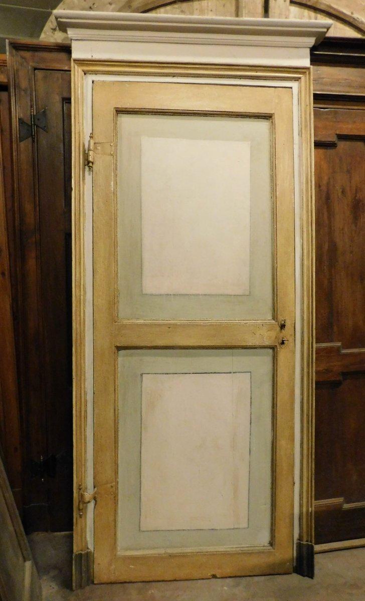 ptl518 - porta laccata con telaio, XVIII secolo, cm l 100 x h 232
