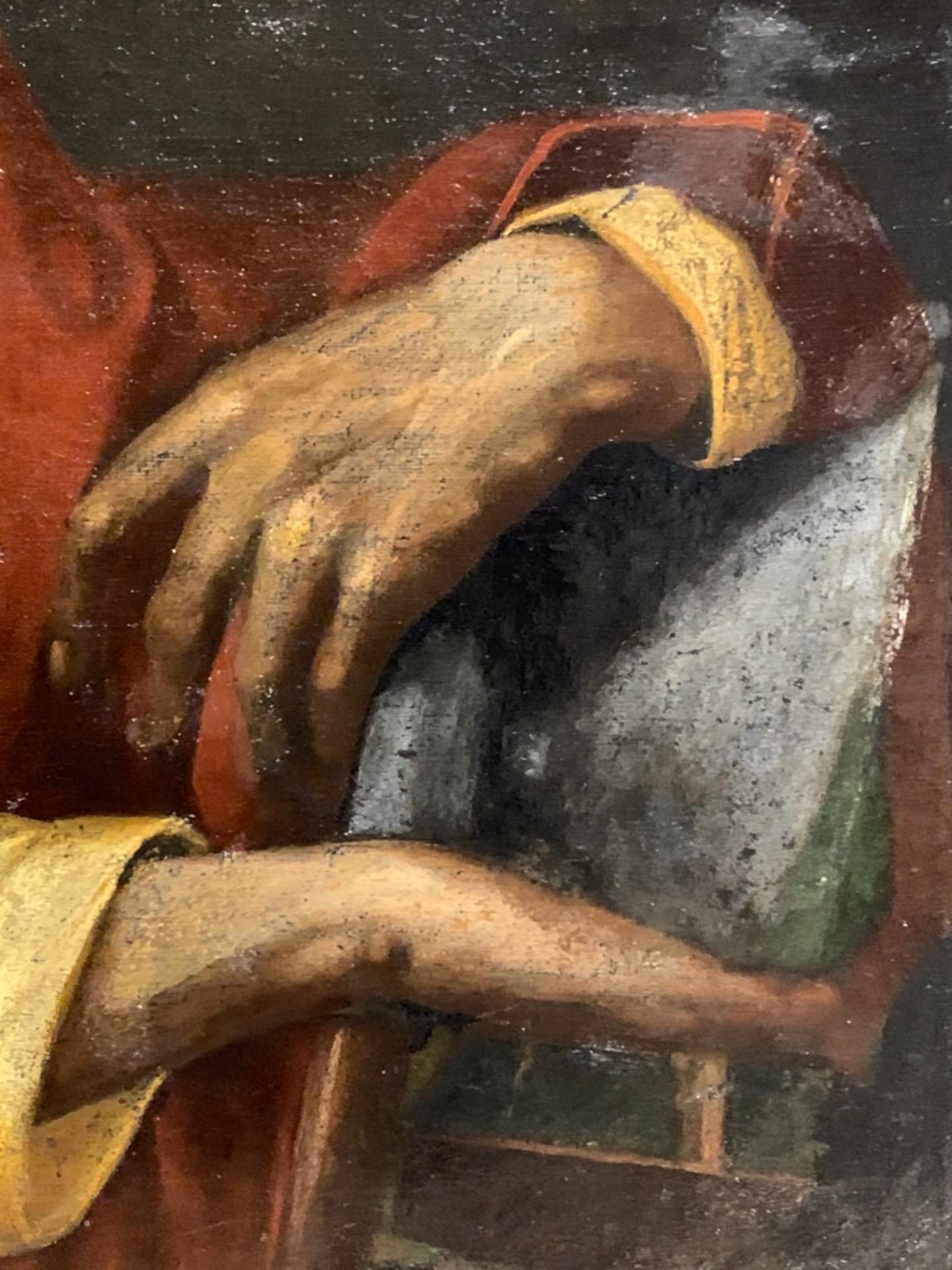 thumb4 Giuda Taddeo Apostolo - Scuola lombarda XVII secolo . Cm 77 x62