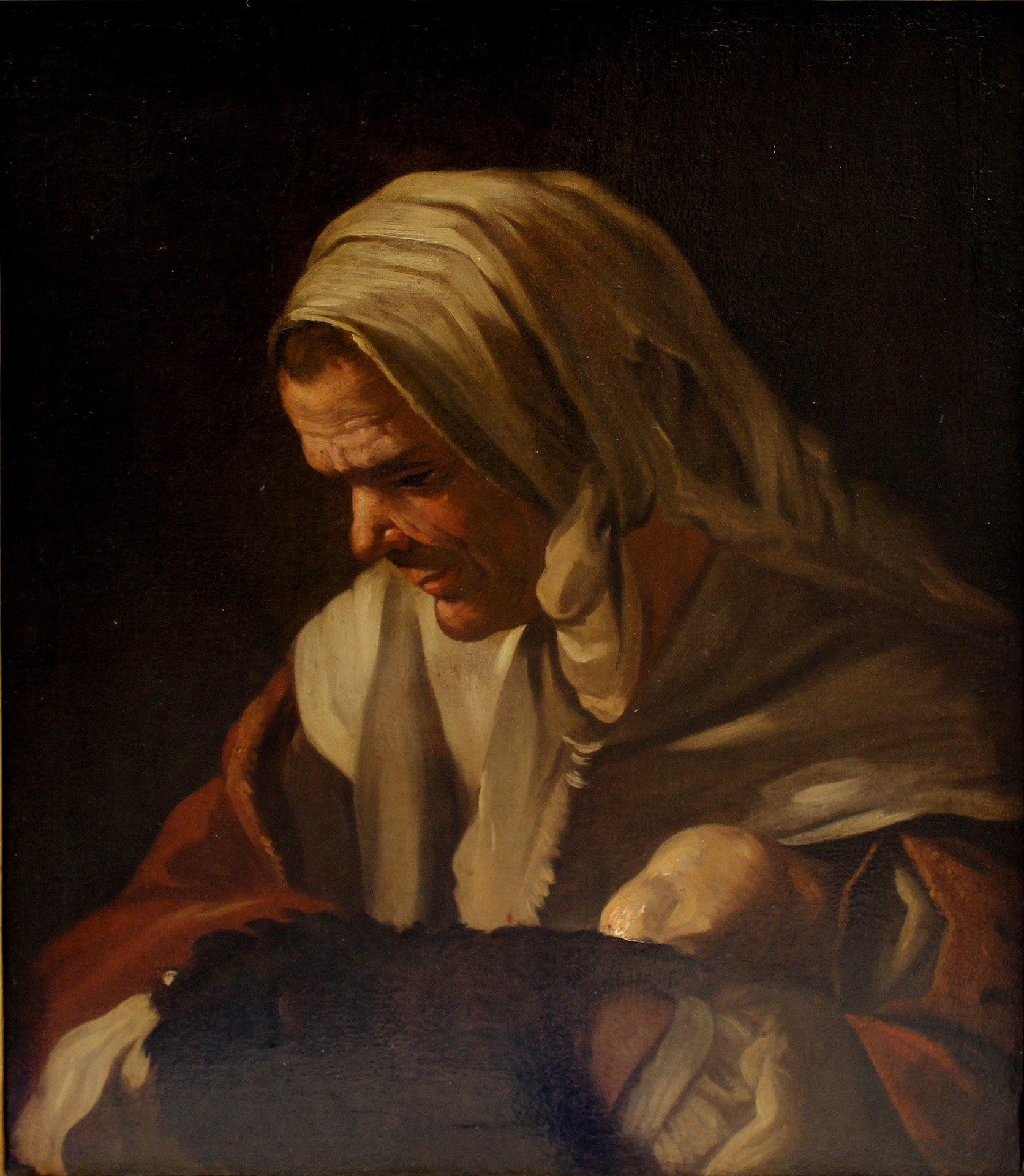 Donna con scaldino, Antonio Cifrondi (1665 - 1730)