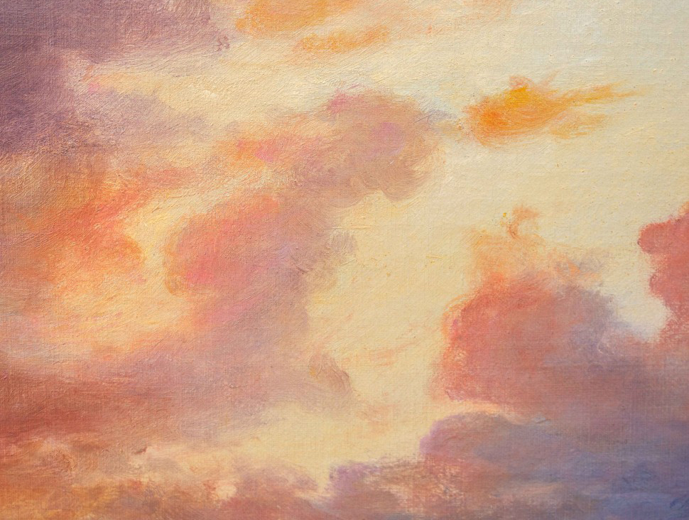 thumb8 Paesaggio al tramonto, XIX secolo