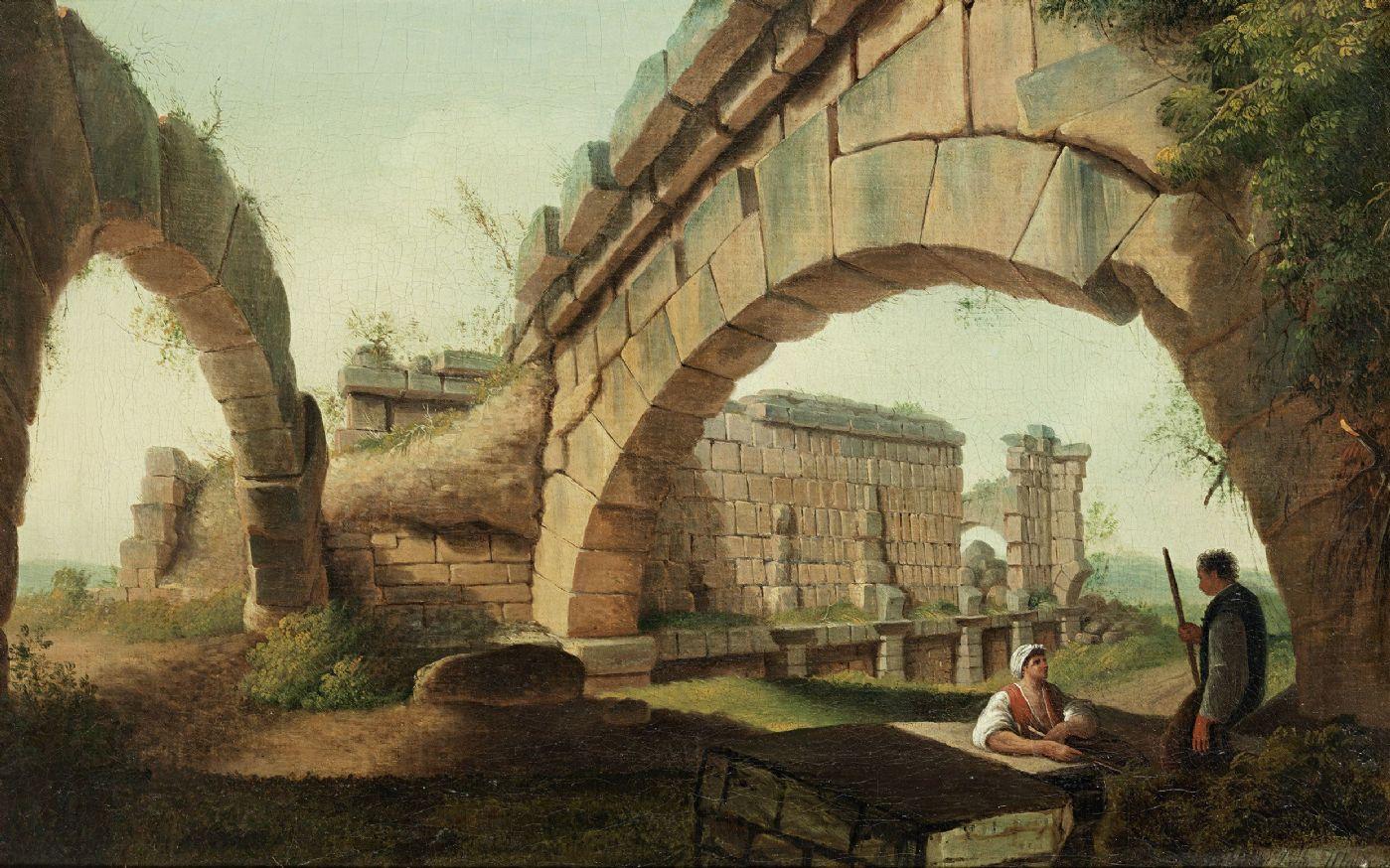 Capriccio Architettonico firmato Luigi Mayer