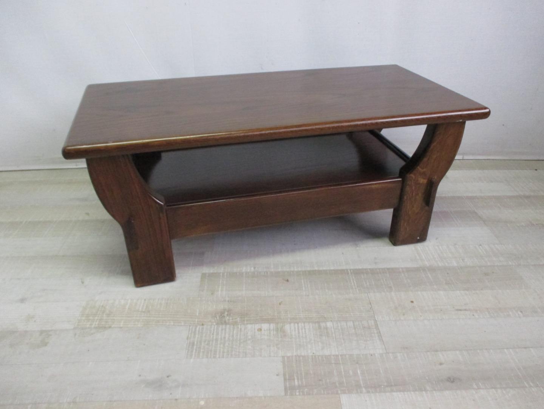 Tavolino Basso Antiquariato.Tavolino Basso Da Salotto In Castano Epoca Anni 80