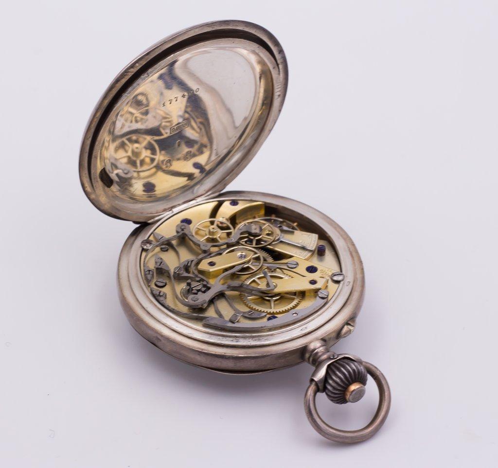 thumb4 Cronografo da tasca in argento fine '800