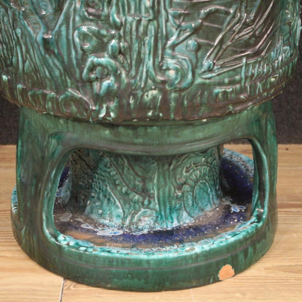 thumb9|Vaso italiano in terracotta smaltata verde