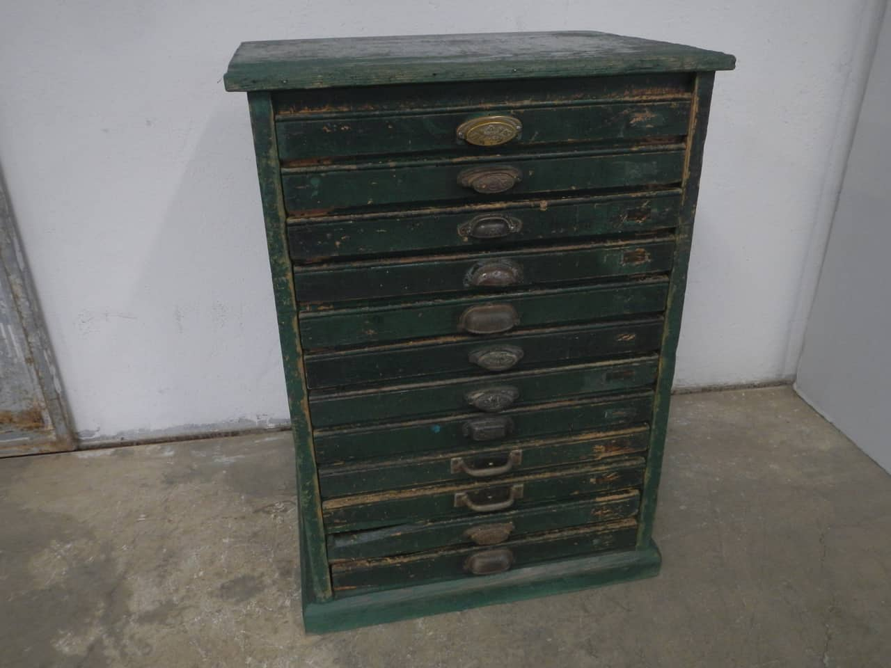 cassettiera da tipografia anni 50