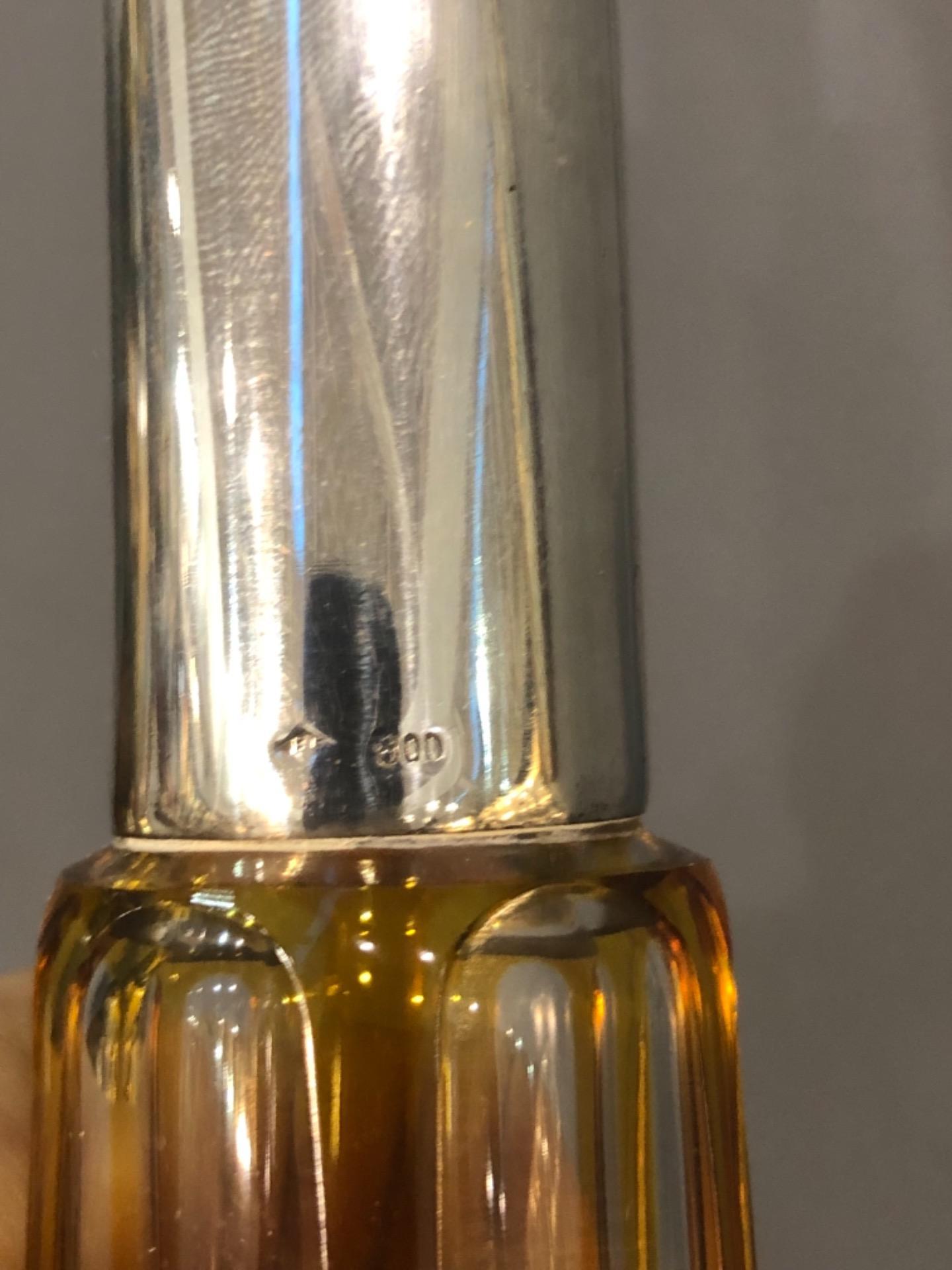 thumb2|Bottiglia boemia incisa con collo in argento.