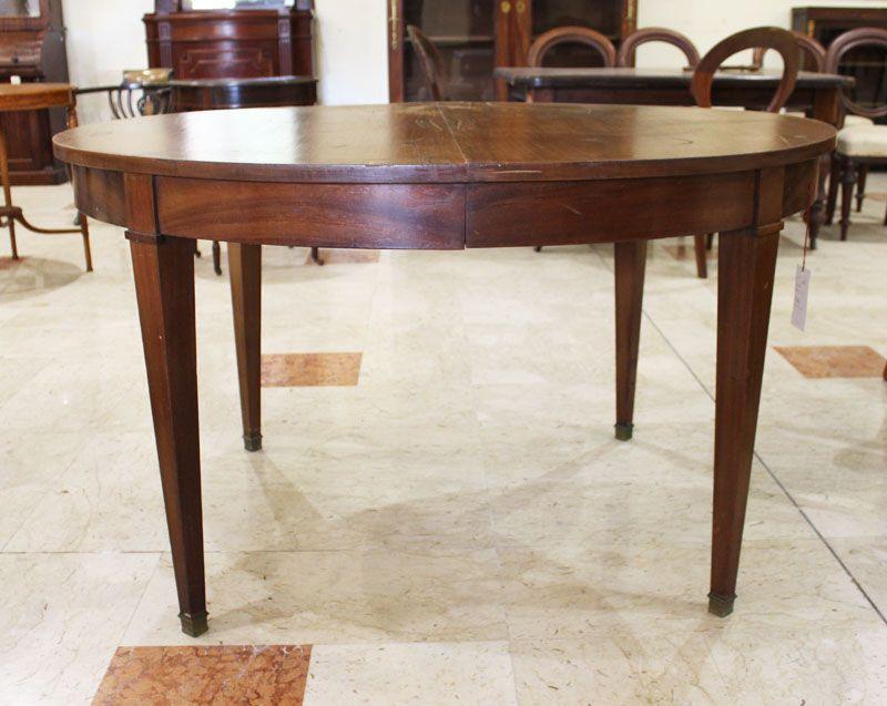 Tavoli Da Pranzo Antichi.Tavolo Da Pranzo Ovale Allungabile Antiquariato Su Anticoantico
