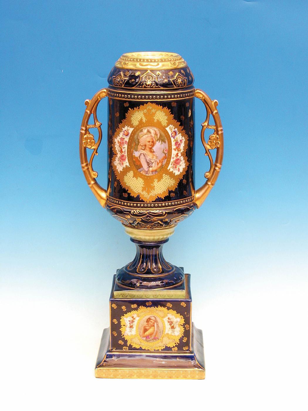 Vaso in porcellana di s vres antiquariato su anticoantico for Vaso di porcellana