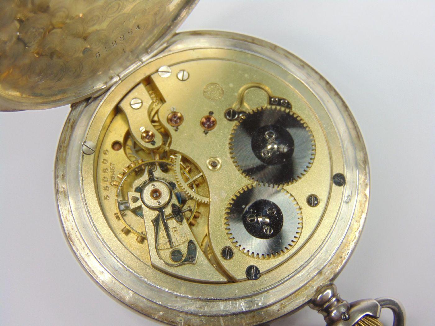 thumb6|Orologio da tasca in argento International Watch Co. fine '800