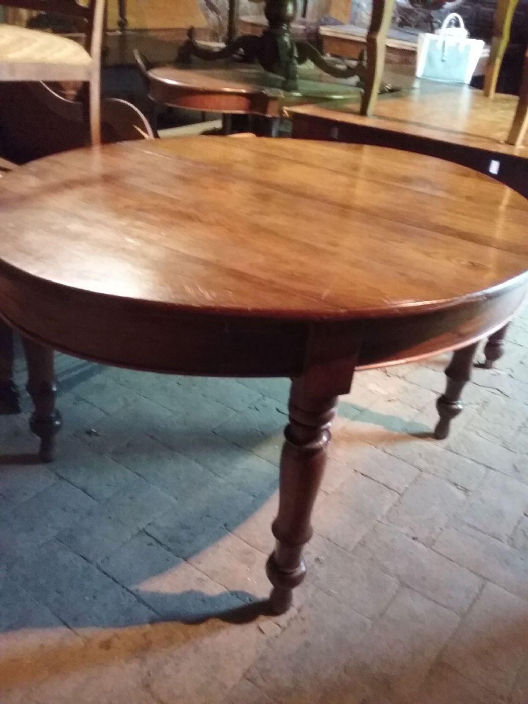 Tavolo Antico Allungabile Toscana.Tavolo Ovale In Olmo Misura160x125 Toscano Allungabile Fino A Cm 280