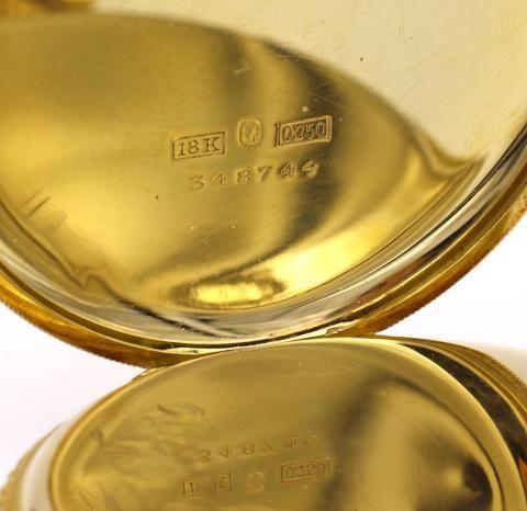 thumb5|Orologio da tasca Ulysse Nardin in oro 18k 1940 circa