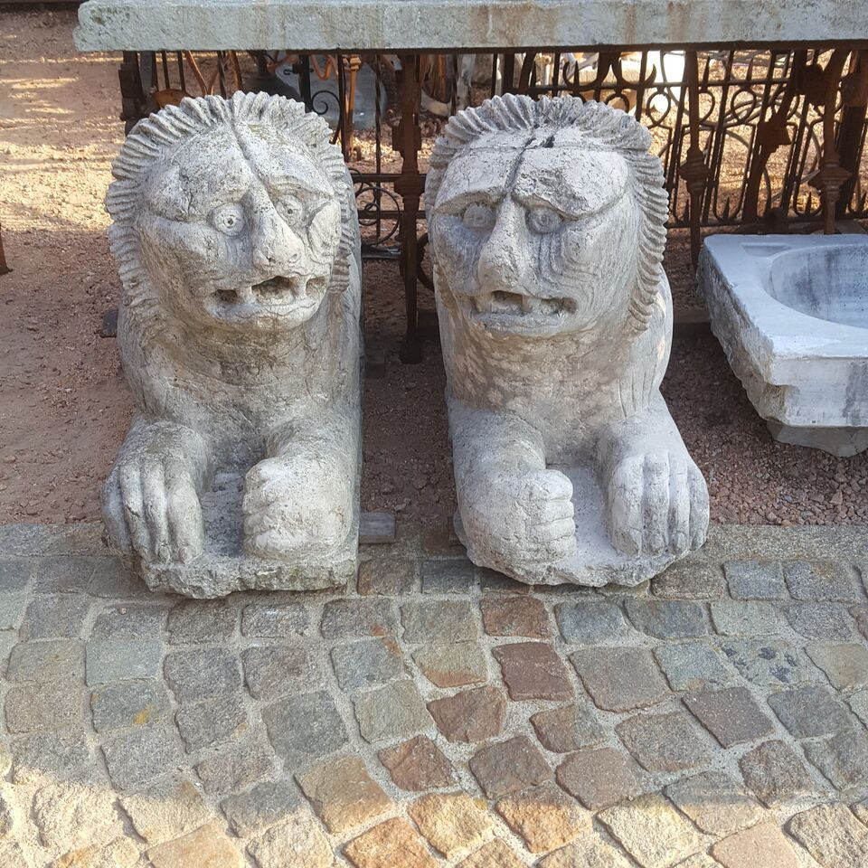 leoni in marmo Stilofori Veneti epoca mediovali