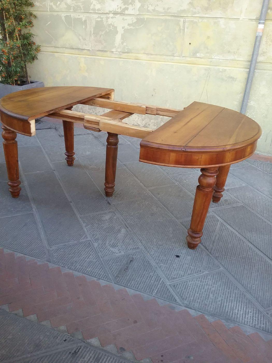 Tavolo in ciliegio l 123xh81 allungato 230 epoca 1800 for Mobili 800 toscano