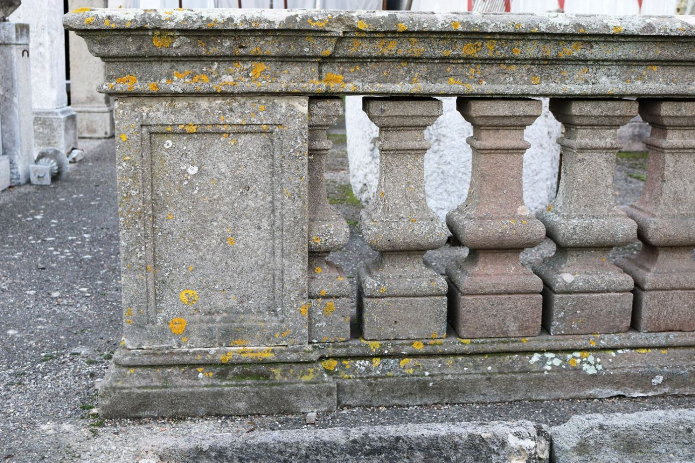 Par de antiguos balaustradas de piedra per odo de luis - Balaustradas de piedra ...