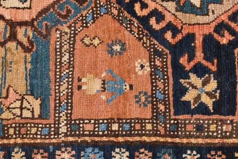 thumb7|Antica e rara passatoia Caucasica GANDJEH da collezione privata
