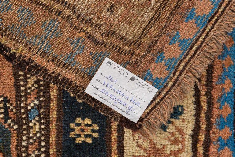 thumb4|Antica e rara passatoia Caucasica GANDJEH da collezione privata