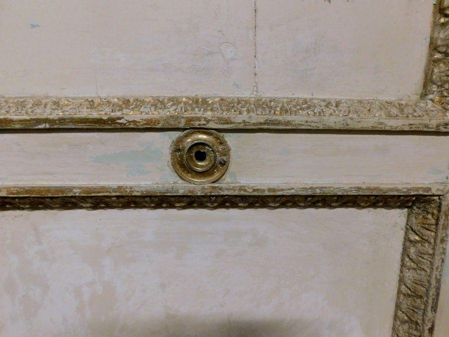 thumb3|ptl487  porta laccata bianca con cornici dorate, mis. cm 126 x h 262