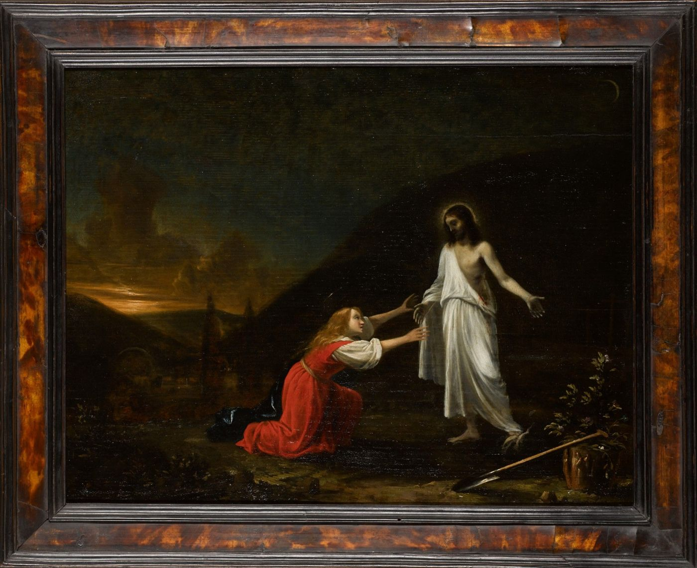 "thumb2| "" Noli me tangere "" Pieter Fris ( Amsterdam,1627- Delft,1708)"