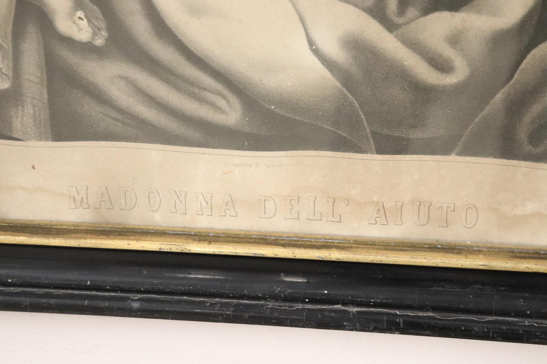 thumb5|Antica Litografia Madonna dell'Aiuto secolo XIX PREZZO TRATTABILE