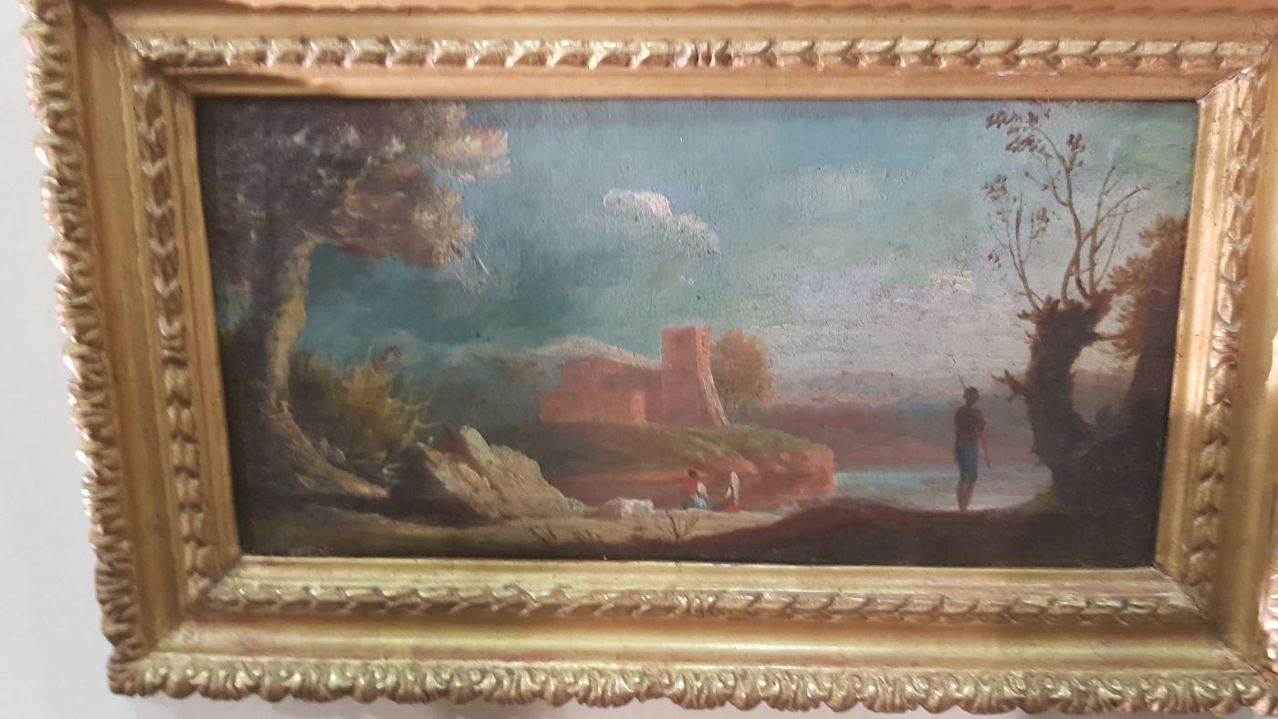 Par de pinturas al óleo sobre lienzo de 700 con marcos ...