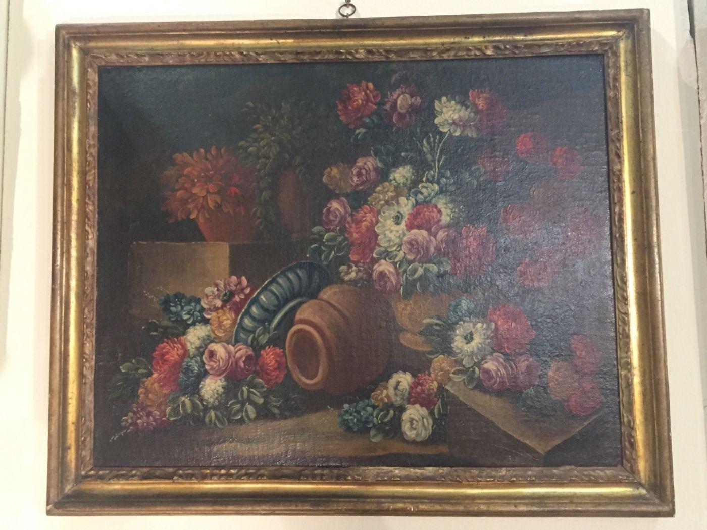 Stillleben des achtzehnten Jahrhunderts. , Öl auf Leinwand mit ...