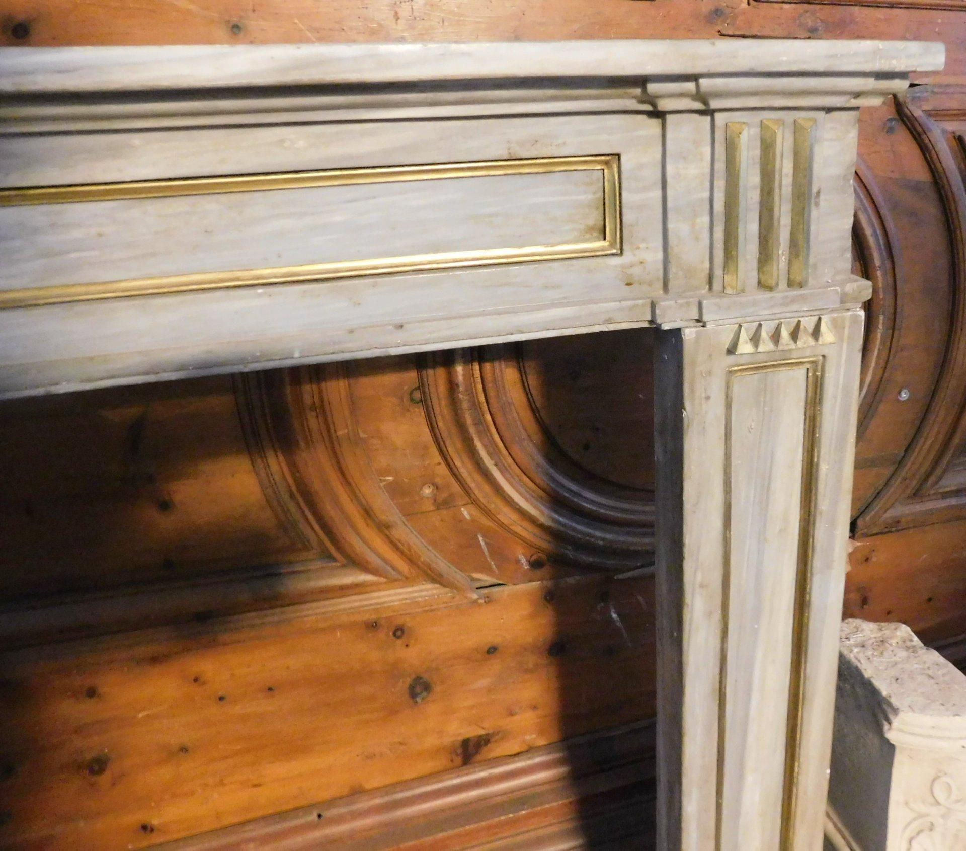 thumb2 chm245 camino in marmo grigio luigi xvi ep 700 bocca 145 x 94 cm