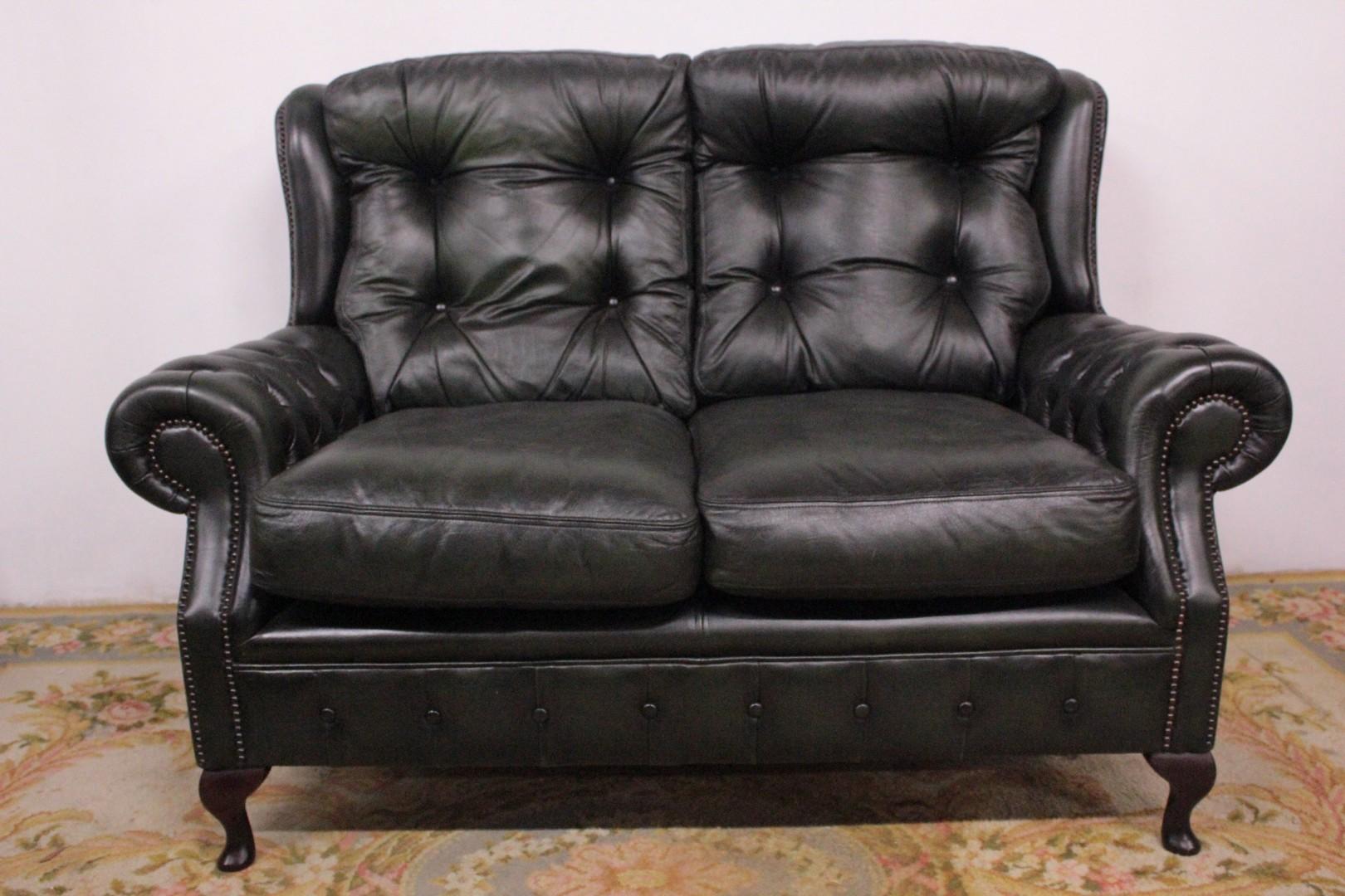 Chesterfield Chesterfield Sofa In Originalem Englischem 2 Sitzer