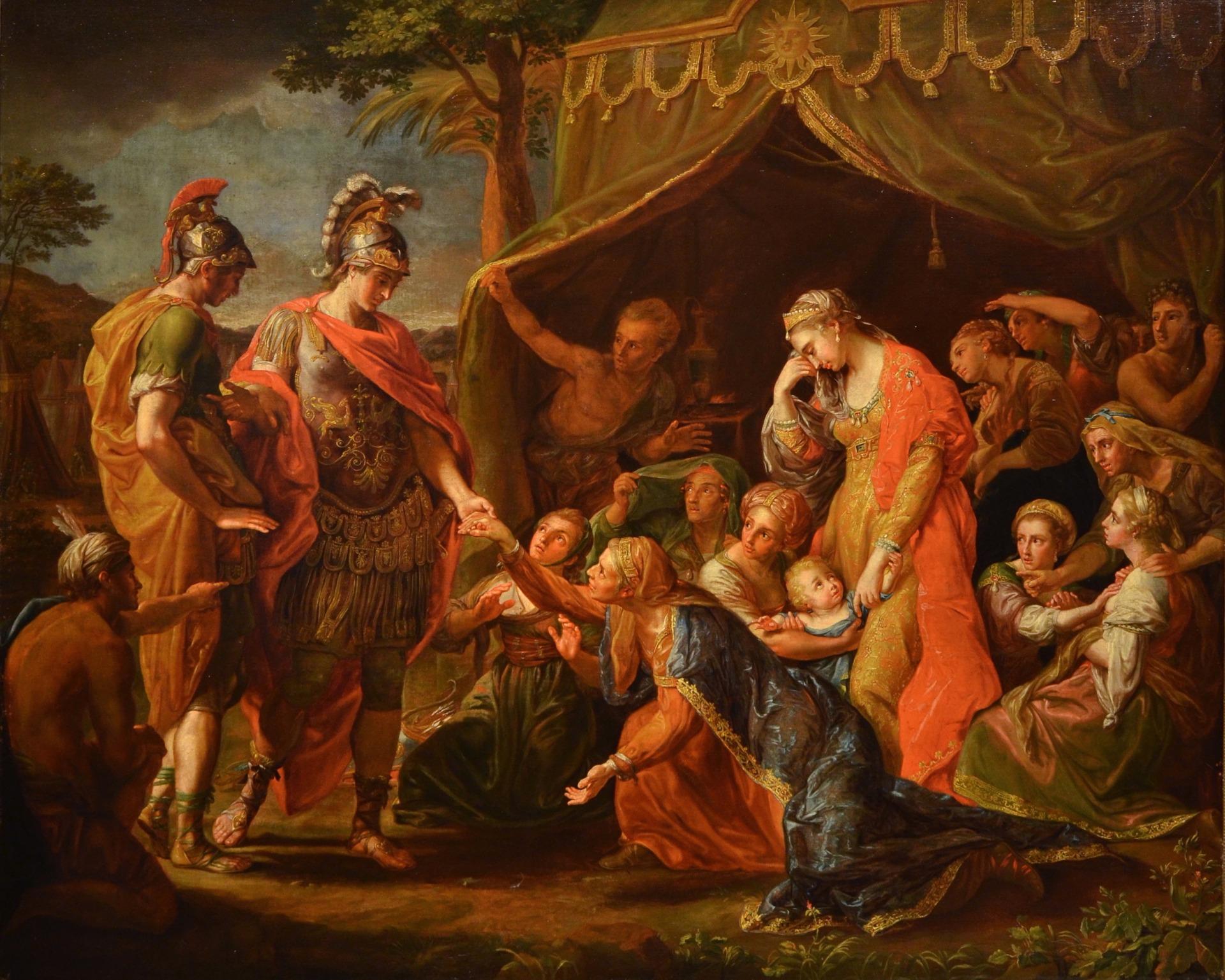 Alessandro Magno visita la famiglia di Dario, Pompeo Girolamo Batoni (Lucca 1708 – Roma 1787) e bottega (VENDUTO)
