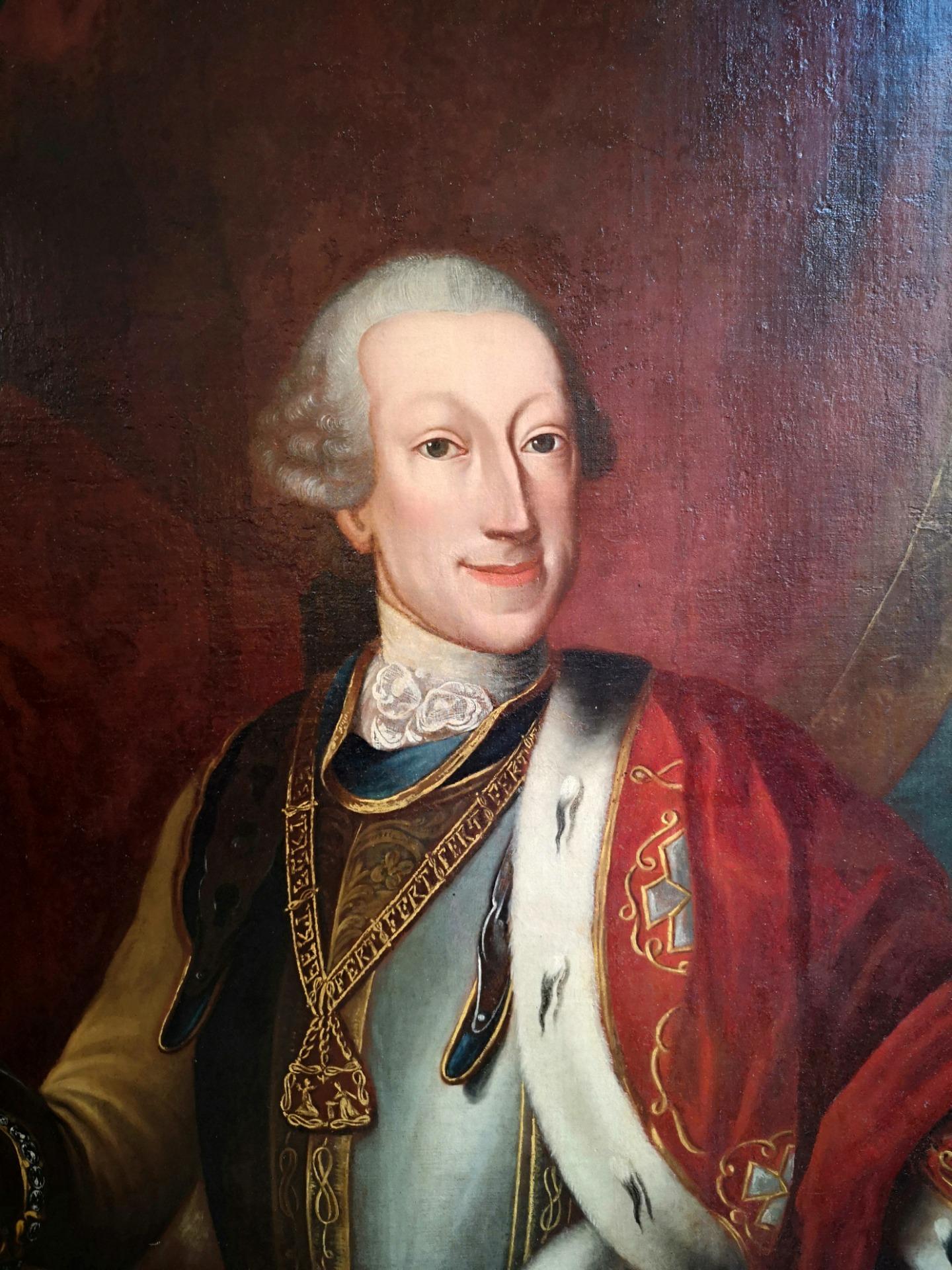 thumb2|Dipinto olio su tela , raffigurante Carlo Emanuele III di Savoia: epoca: metà 700