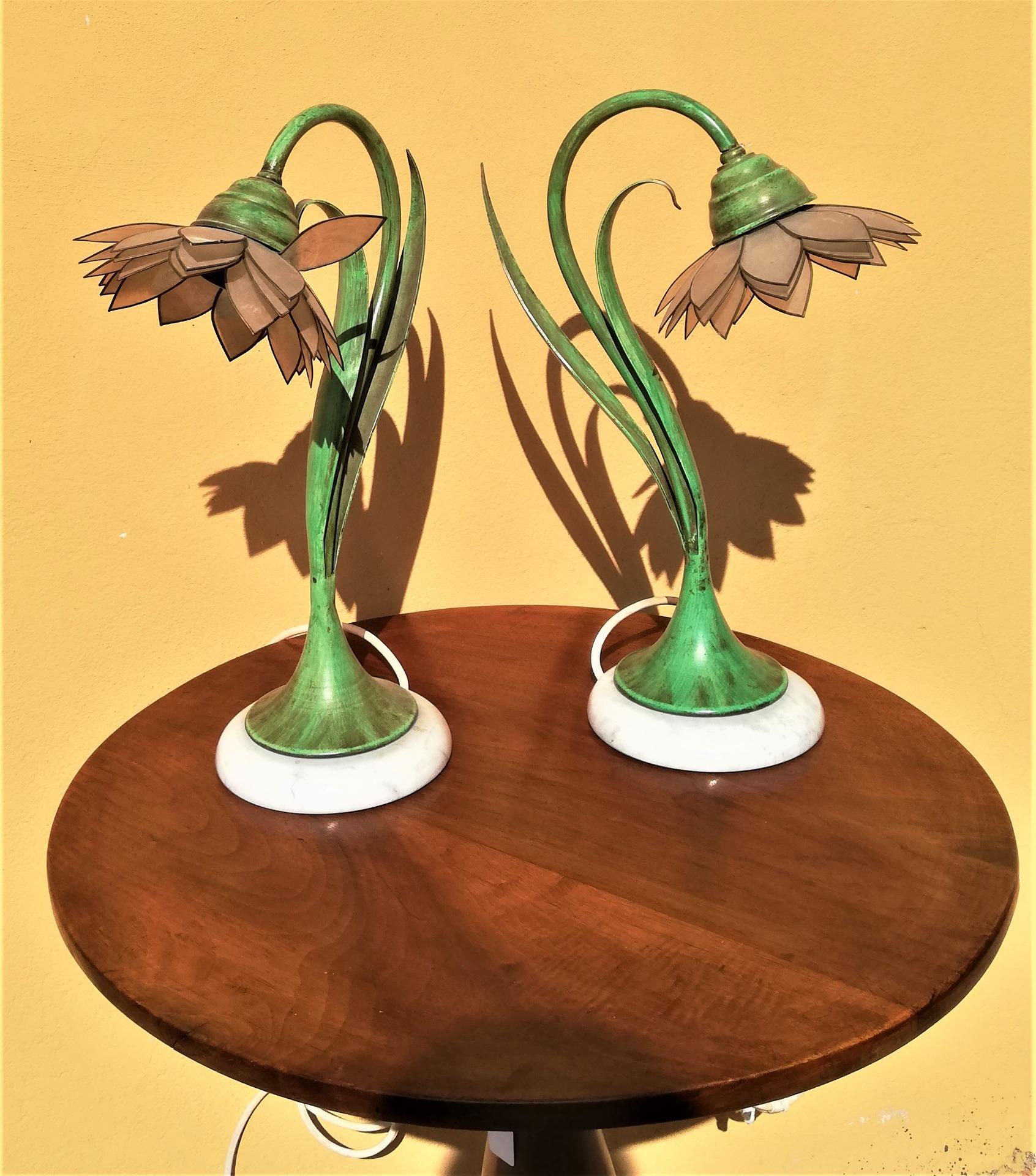 thumb6 coppia di lampade vintage