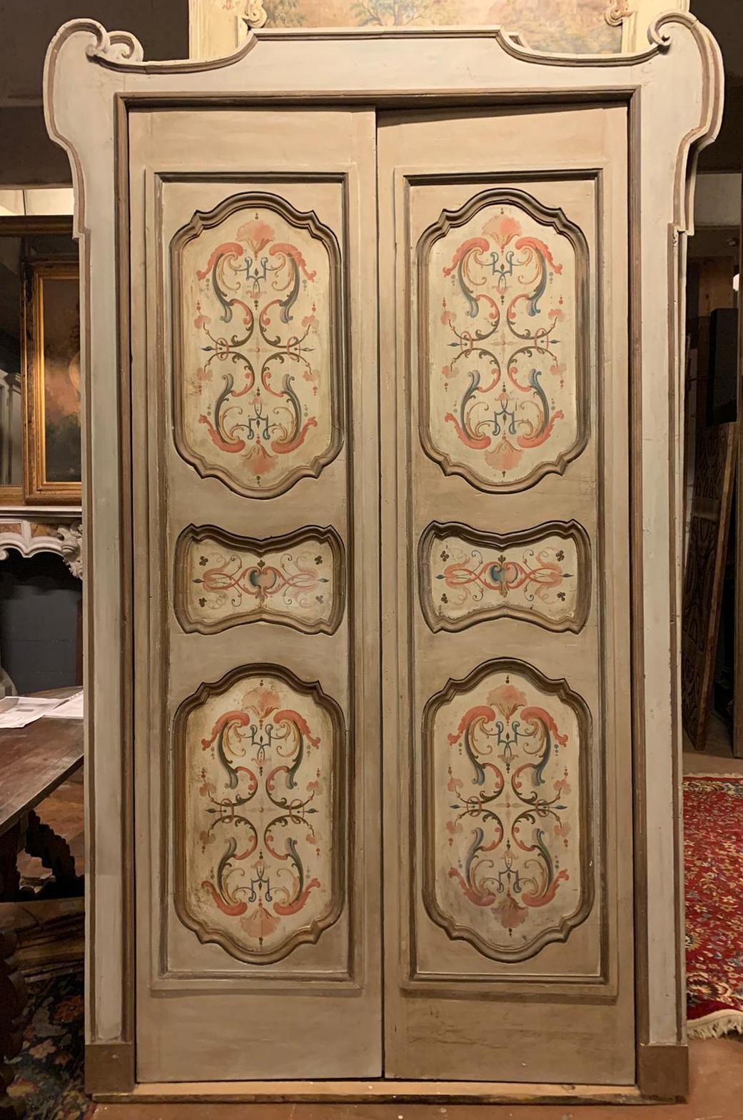 thumb6|pts742 - coppia di porte complete di telaio, ep. '700, mis. l 140/142 x h 253