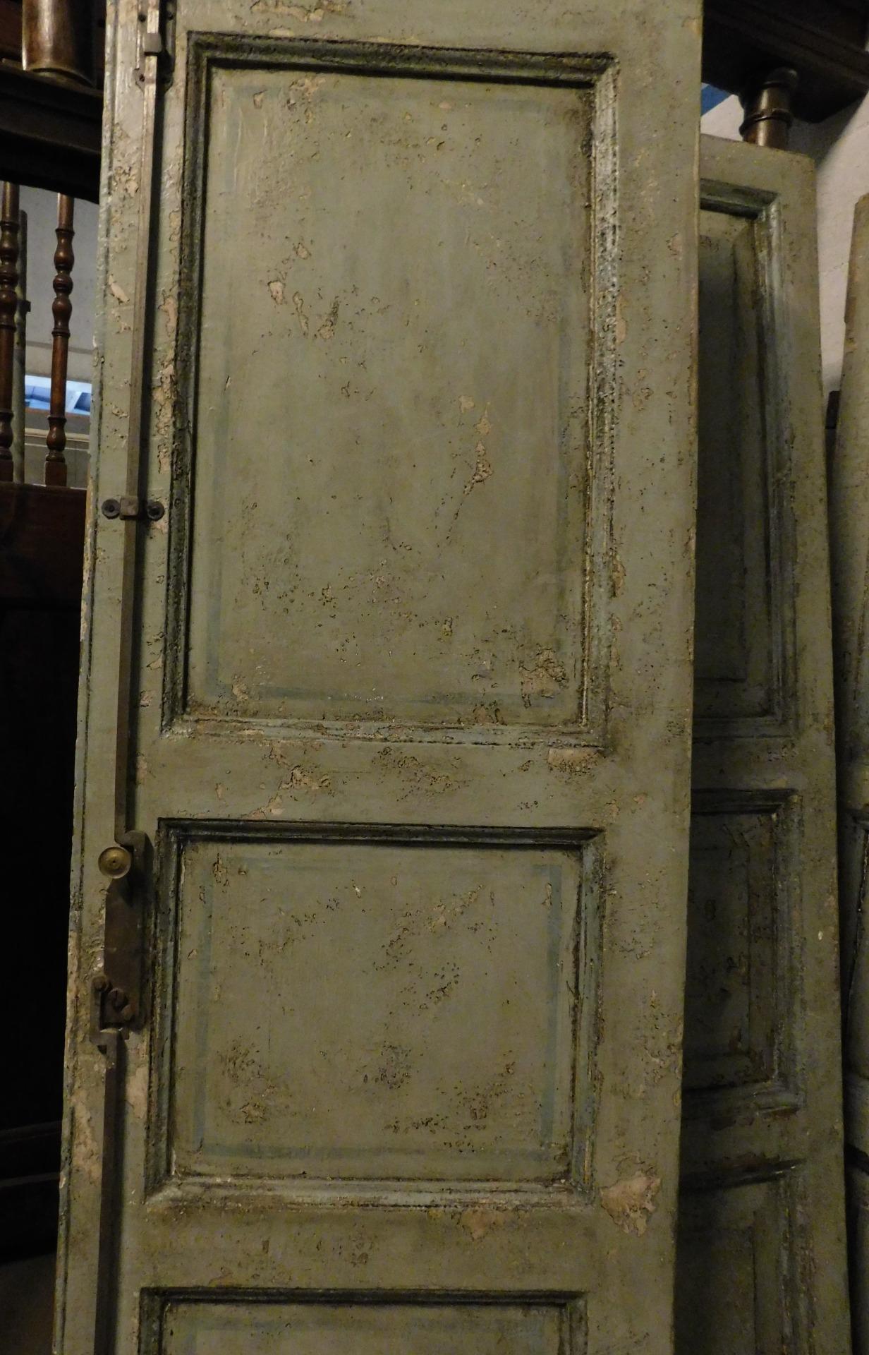 thumb4| pts743 - due porte laccate a due battenti, prima metà '800, cm l 114 x h 204