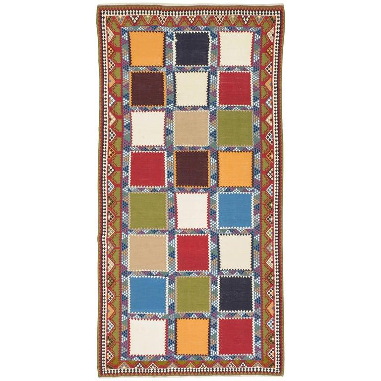 Kilim persiano KASKAI o GASHGAI di vecchia manifattura