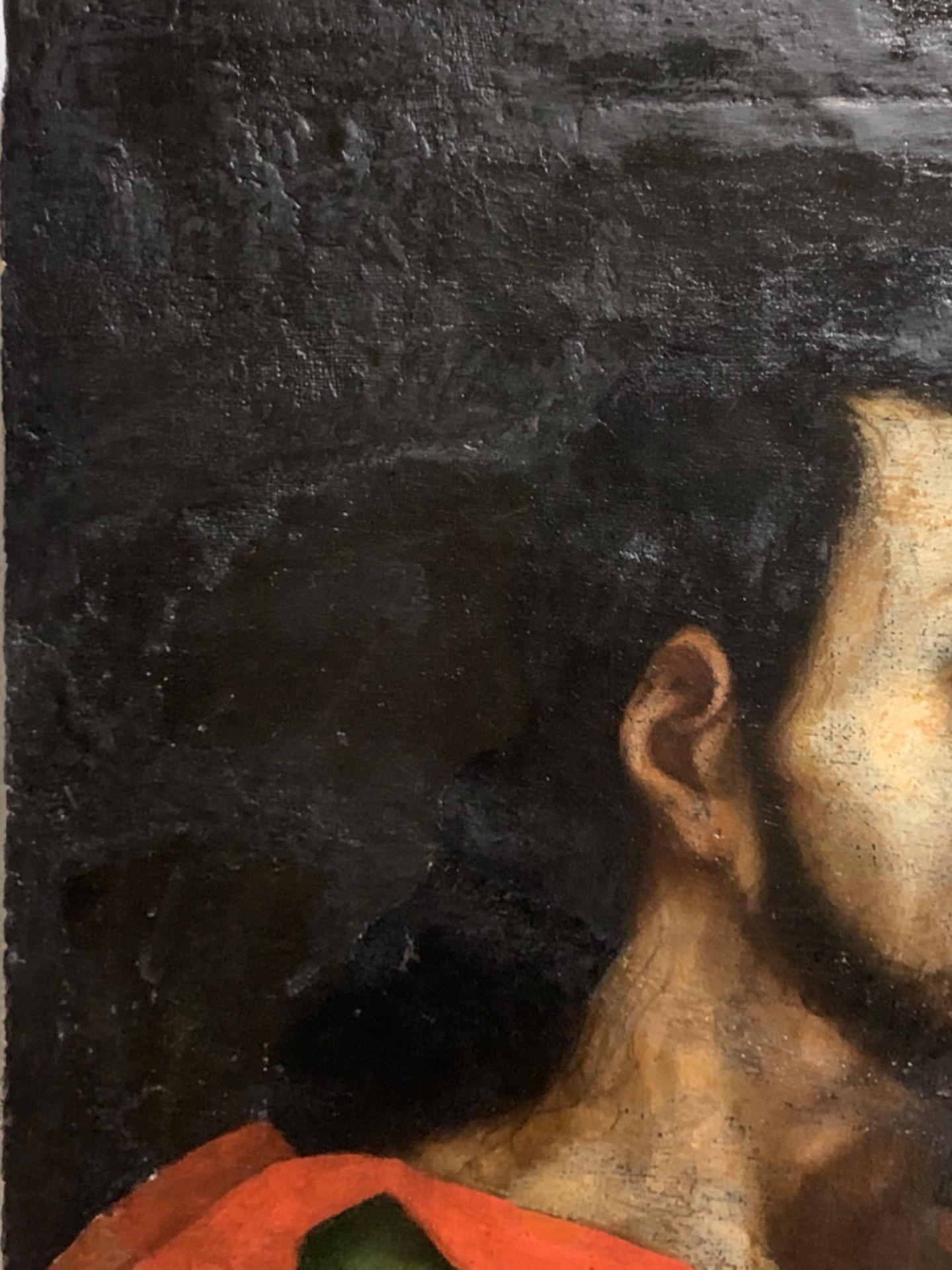 thumb5 Giuda Taddeo Apostolo - Scuola lombarda XVII secolo . Cm 77 x62
