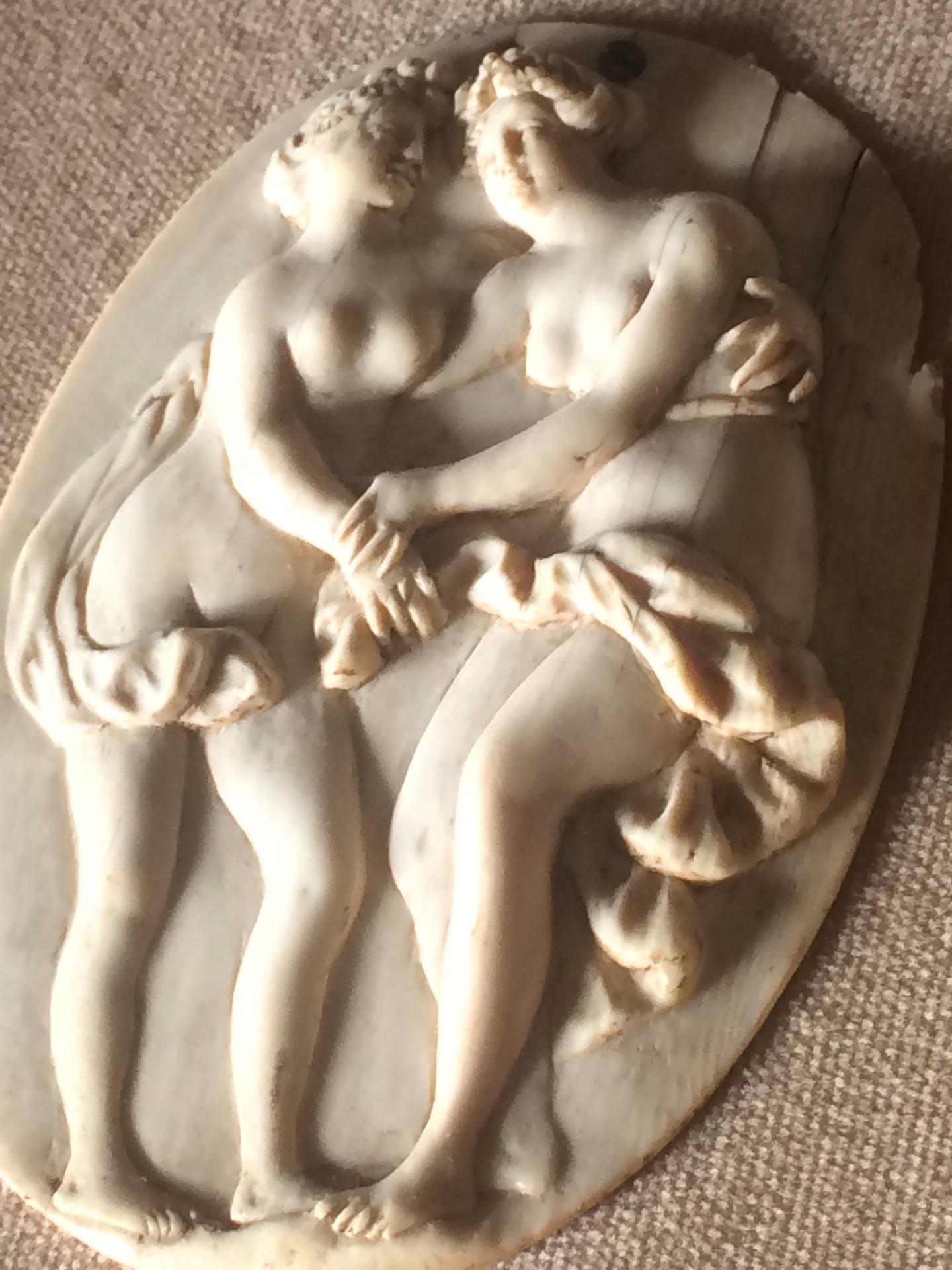 thumb2| Piccolo bassorilievo in avorio neoclassico