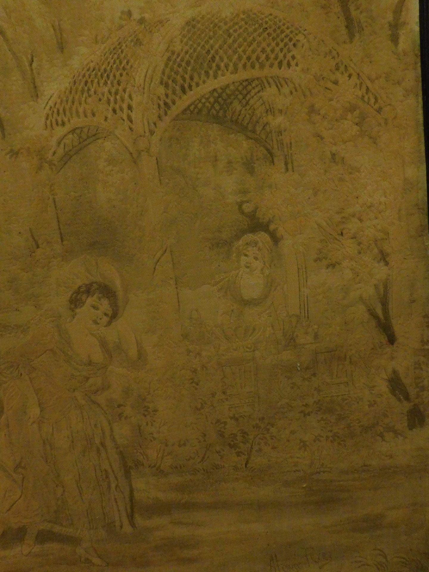thumb3|pan223 - arazzo, epoca '800, mis.  con cornice cm 235 x h 183