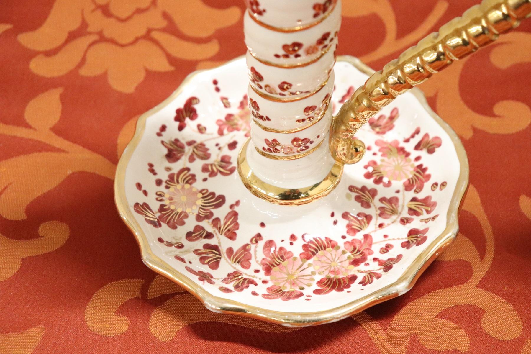 Coppia di candelieri in ceramica marchio ARS Deruta PREZZO ...