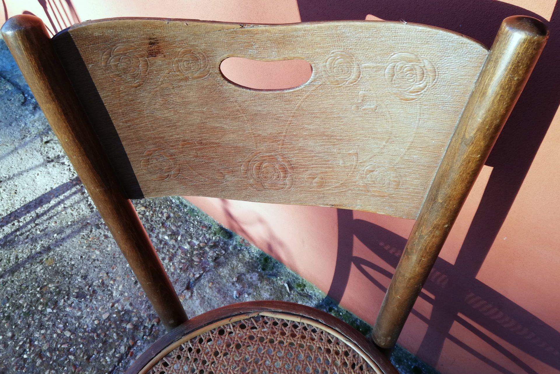thumb4|sedia in faggio Vienna timbrata